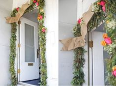 Inspiring May Flowers- How darling is this Eucalyptus garland?!