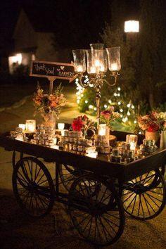 Tu #evento es por la noche? Ideal y #vintage utilizar un carrito para los postres