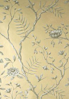 LEWIS & WOOD Jasper Peony Metallic Wide Width Wallpapers