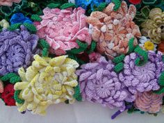 ergahandmade: Crochet Flower (Colorful Crochet Top With Flowers ) + Free Pattern Step By Step (Part 2)