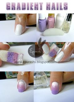 Gradient Nail Tutorial by Epurash