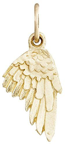 Helen Ficalora Angel Wing Mini Charm Yellow Gold. As Seen On: Oprah Winfrey, Julianne Moore, Gwyneth Paltrow, Tina Fey, Anne Hathway, Blake Lively, Jennifer Garner and many more. As Seen In: Ellen, Oprah, Martha Stewart, Glamour, Vogue, People Magazine, The Real Housewives, Steve Harvey, The Price is Right and many more. Made With Real Solid 14k Gold. Made in the United States. *Products May Appear Larger In Photos Than In Person.