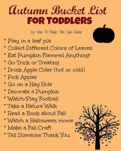 Autumn Bucket List for Toddlers