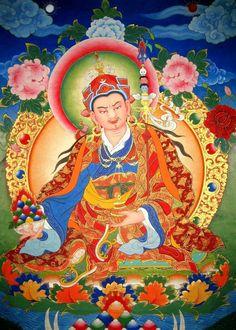 Thangka Art: Padmasambhava (Guru Rinpoche) 蓮師財神 www.traditionalartofnepal.com