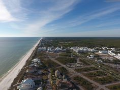 Aerial view of Alys Beach and Paradise by the Sea.