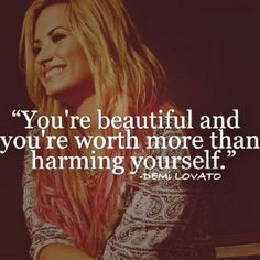 Demi is such an inspiration to so many young teens, that's one of the reasons why I admire her ❤