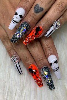 One thing that we are sure on is that we'll be trying out Halloween nail art. Legions of avid Halloween-ers are painting their nails with cool (sorry, scary) designs. Ghosts, pumpkins, haunted scenes, monsters, skeletons, spiders and even, wait for it... Wednesday Adams.   If you haven't already seen hundreds of pics of it splashed across your Instagram feed this weekend, browse through our favourites pics and tutorials - we are just dying to give these a try.  Credit: nailedbylaurag