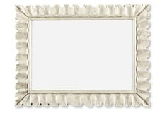 Lucille Wall Mirror, Weathered White