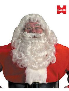 Other Theatrical Clothing 163149  Professional Quality Santa Beard And Wig  Set For Christmas -  4c4db2afae