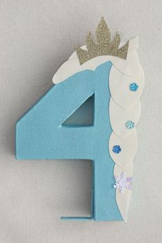 Frozen Party Decoration Elsa Number or Letter by LittleABCDesigns