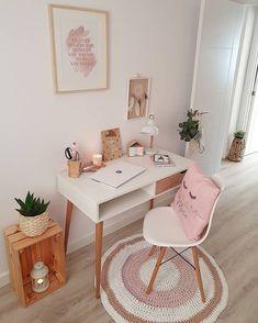 Girl Bedroom Designs, Room Ideas Bedroom, Diy Bedroom Decor, Home Office Design, Home Office Decor, Home Decor, Study Room Decor, Online Furniture Stores, Furniture Shopping