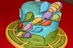 Retirement cake inspired by Dr Seuss' Oh, the Places You'll Go