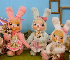 Usarons Japanese bunny dolls  by cherrymerry, via Flickr