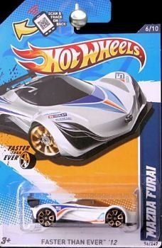 hot wheels 2012 096 collector 96 247 mazda furai white fte faster than ever - Hot Wheels Cars 2012
