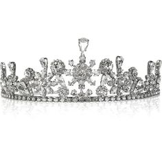 Louis Mariette Alexandra crystal tiara (640 BRL) ❤ liked on Polyvore featuring accessories, hair accessories, jewelry, tiaras, fillers, crowns, women, circle, circular and round