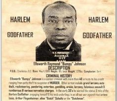 Harlem's Godfather Bumpy Johnson Real Gangster, Mafia Gangster, Bumpy Johnson, Black History Facts, Criminology, The Godfather, African American History, Mug Shots, Black People