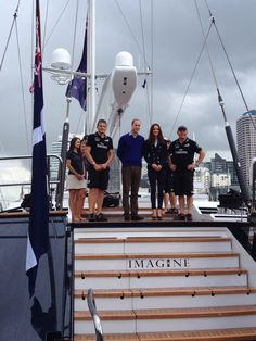Will and Kate on boat in Auckland Harbor. 4/12/14