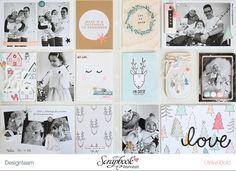 "Project Life Dezember-Doppelseite - Crate Paper ""Snow & Cocoa"" + Scrapbook Werkstatt Badge - von Ulrike Dold"