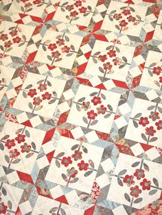 """""""Etchings"""" named after the fabric collection of the same name by 3 Sisters for Moda. The pattern is by Planted Seed Designs... found at Holly Hill Quilt Shoppe"""