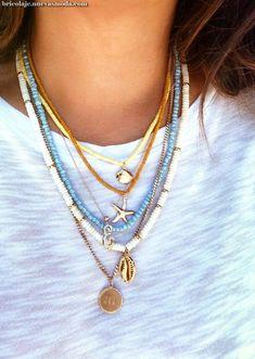 ✔ Diy Jewelry Choker Beautiful - - ✔ Diy Jewelry Choker Beautiful hand made ✔ Diy Schmuck Halsreif Schön Summer Necklace, Summer Jewelry, Diy Necklace, Necklace Ideas, Magnetic Necklace, Seashell Necklace, Beaded Choker Necklace, Surf Necklace, Choker Jewelry