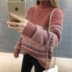 knitted sweater Women pullovers knitwear 2018 jumper pull femme