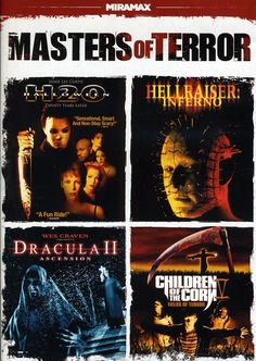 Discover just how loud horror sequels can make you scream with this four movie collection featuring HALLOWEEN: H2O, HELLRAISER: INFERNO, DRACULA 2: ASCENSION, and CHILDREN OF THE CORN 5: FIELDS OF TER