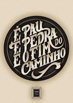 Cartaz tipográfico da música Águas de Março, de Tom Jobim. | Águas de Março hand lettering - typography