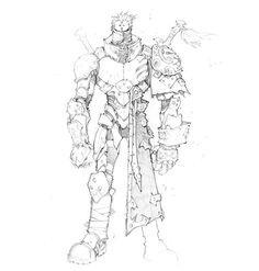 Battle Chasers concept character design art by Joe Madureira