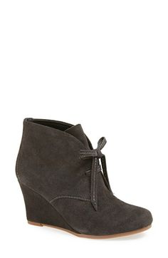 Free shipping and returns on DV by Dolce Vita 'Pellie' Bootie (Women) at Nordstrom.com. A wrapped wedge heel elevates a sophisticated lace-up bootie cast in lush suede.