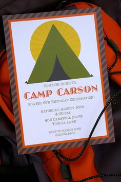 Camping Birthday Party Collection by EmmysEvents on Etsy, $37.00