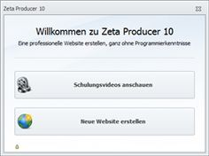 Website erstellen. http://www.zeta-producer.com Homepage erstellen.