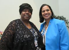Secretary Walker with Bernice Edwards, director of the First State Community Action Agency in Georgetown.