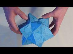 Faltanleitung für einen Dodeka-Stern (Origami, Folding instruction for Dodeka star) - YouTube