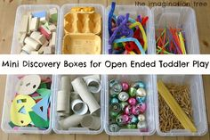 Mini Discovery Boxes for Open-Ended Play - The Imagination Tree