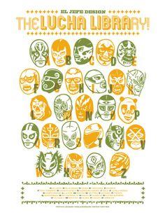 Lucha Libre Alphabet - El Jefe Design screenprinted poster