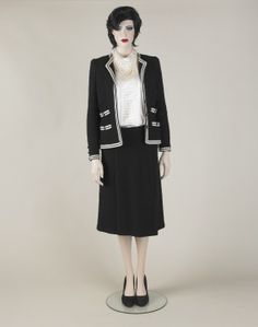 Skirt suit, Adolfo for Saks Fifth Avenue, 1988-89