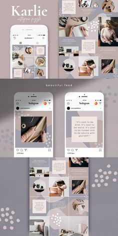 Hushed Photoshop For Beginners Instagram Feed Layout, Instagram Grid, Cool Instagram, Instagram Post Template, Story Instagram, Instagram Design, Instagram Posts, Instagram Life, Social Media Template