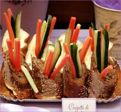 Lovely Lavender Theme:veggie baguettes