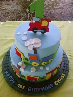 Chu chu train cake