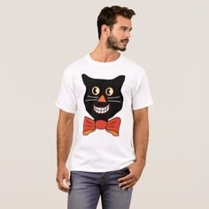 Black Cat T-Shirt Halloween T-Shirt - black gifts unique cool diy customize personalize