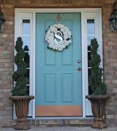 28 Lovely Colored Front Doors, this one was a BM color match for AS Duck Egg Blue