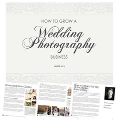 How to Grow a Wedding Photography Business - free PDF