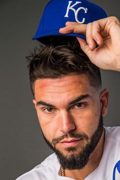 Eric Hosmer Photos Photos - Eric Hosmer #35 of the Kansas City Royals poses for a portrait at the Surprise Sports Complex on February 20, 2017 in Surprise, Arizona. - Kansas City Royals Photo Day
