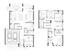 The RICHMOND Double Storey Home Design Floor Plan | 296.8m2 | 4 Bedrooms, 2 Bathrooms, 2 Car Garage