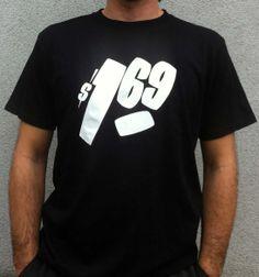 One Sixty Nine - black New T, Colors, Mens Tops, T Shirt, Black, Fashion, Tee, Moda, Black People