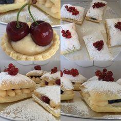 No siempre se celebran los cumpleaños con pasteles, este ha sido mi primer encargo de hojaldre con crema y fruta y espero que no el último, felicidades Irene y Beatriz