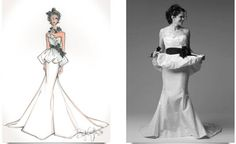 peplum heaven. alsooo Deborah Griffin of Illustrative Moments will sketch you in your gown for a fabulous keepsake!