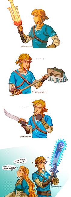 The Legend Of Zelda 793196553103256647 - How to cut hair, with chainsaw? Source by meloechano The Legend Of Zelda, Legend Of Zelda Memes, Legend Of Zelda Breath, Oot Link, Link Zelda, Hetalia, Mini Comic, Fan Art, Breath Of The Wild