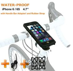 NEW iPhone 6 Bike Mount Waterproof JEBSENS WPI6 iPhone 6  iPhone 6S Waterproof ShockProtected Bike Holder Mount -- Want to know more, click on the image.