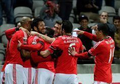 A festa dos jogadores do Benfica